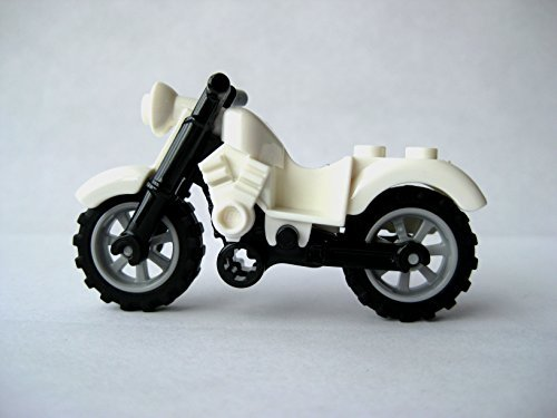 Lego Motorcycle -White Harley Style- Loose Minifigure Accessory