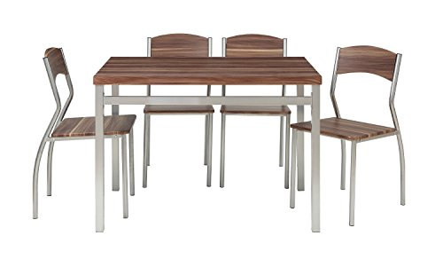 Abington Lane 5-Piece Dining Table Set with 4 Chairs - Modern and Sleek Dinette (Cedarwood Finish) by Abington Lane (Image #1)