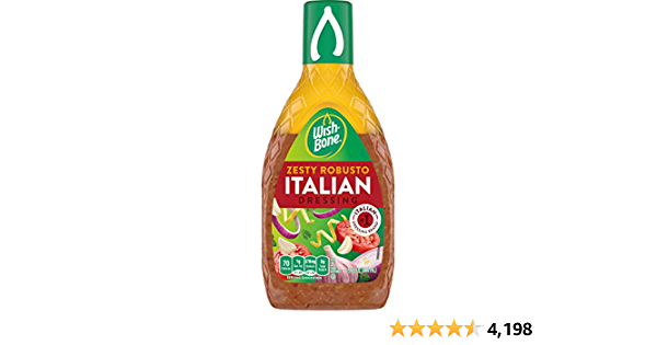 Wish-Bone Salad Dressing, Zesty Robusto Italian, 15 oz