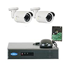 GW Security VD2C4CH1337IP 4 Channel 1080P NVR Surveillance System with 2 x 1.3MP 960P Outdoor or Indoor Onvif PoE IP Security Camera 500GB Hard Drive