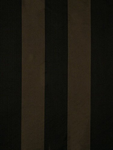 Fabric Robert Allen Beacon Hill Modern Stripe Ebony Silk Upholstery Drapery II42 - Robert Allen Drapery Fabric