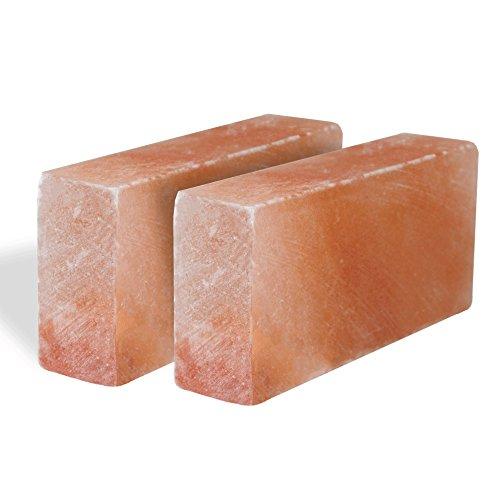 Pink Salt wall Himalayan Salt Brick Set of 20 Size 8''x4''x2'' Crystal Rock Slab Tiles for Home Decor by Pink Salt wall (Image #2)