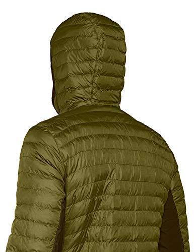 Verde Hombre Columbia Lite Jacket Powder Aislante Chaqueta Hooded gYEIq