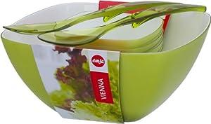 Emsa 509824 Salatschalen-Set mit Salatbesteck, 4.6 Liter und 0.6 Liter,...