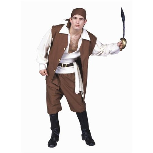 [RG Costumes Men's Caribbean Pirate, AD, Standard] (Halloween Costumes With Red Bandana)
