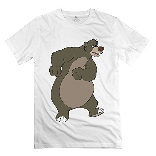 Scooter Guide Buyers - Geek The Jungle Book Baloo Bear Men's T Shirt White Size L