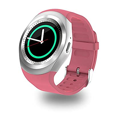 SEPVER SN05 Round Bluetooth Smart Watch with SIM TF Card Slot Pedometer Sleep Monitor Remote Capture sync notifications Compatible for Android Smart phones Support Facebook Whatsapp Twitter