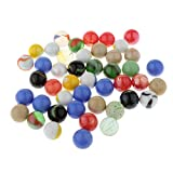 Homyl Set of 45 Glass Marbles (16mm) for Chinese Checkers & Marble Run Game Toy Kids DIY Craft, Party Favors Fish Tank Home Decoration