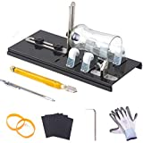 IMT Professional Bottle Cutter, Glass Cutter Wine Bottle Cutting Tool Kit (Color: Bright Black)