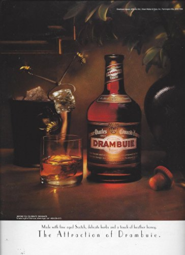 MAGAZINE ADVERTISEMENT For 1998 Drambuie Liqueur: The Attraction Ice