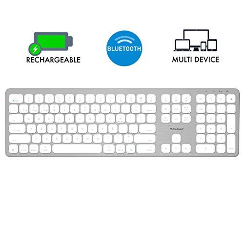 Macally Bluetooth Wireless Keyboard for Mac, iMac, Apple Mac Pro, Mac Mini, MacBook Pro/Air Laptop -...