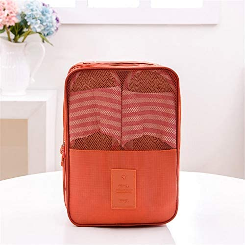 旅行用収納袋 靴収納袋パッキングキューブ旅行主催者防水旅行アクセサリー小荷物主催者 ハンドロールアップ再利用可能な服 (色 : Orange, Size : Free size)