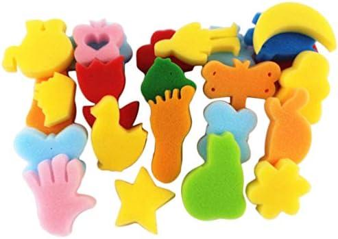 NUOBESTY スポンジ塗装動物形泡絵画スタンプ幼児描画ツール用キッズ48ピース