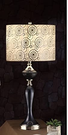 Sophias galleria ultra modern table lamp with circle pattern shade sophias galleria ultra modern table lamp with circle pattern shade and shinning silver base aloadofball