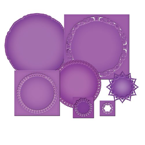 Spellbinders S4-390 Majestic Elements Imperial Gold Circles Die Templates