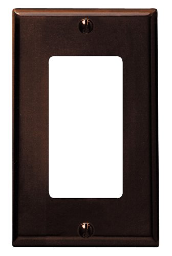 Leviton 80401 1-Gang Decora/GFCI Device Decora Wallplate, Standard Size, Thermoset, Device Mount, Brown (Wall Brown Plate)