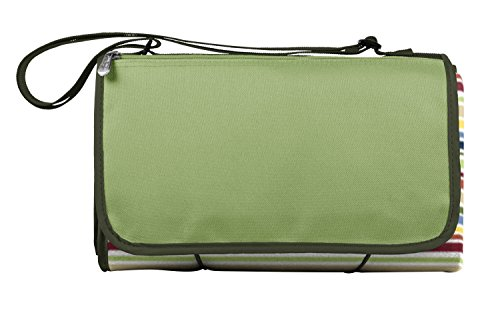 (Picnic Time Outdoor Picnic Blanket Tote, Riviera)