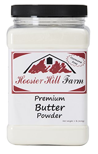 Hoosier Hill Farm Real Butter powder, 1 lb Gluten Free and rBGH and rBST.free