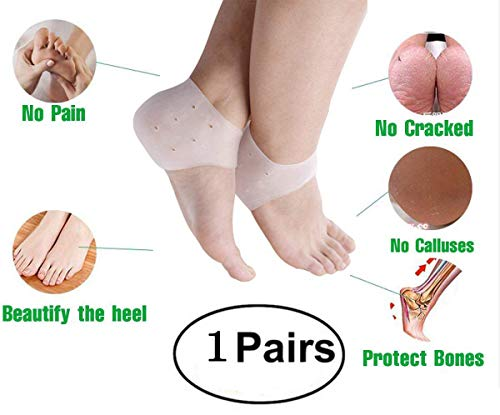 US Stock -Heel Spur Pads for Plantar Fasciitis - Gel Socks Silicone Cups Shoe Insert Protectors
