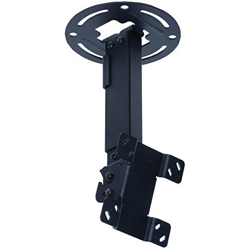 """Price comparison product image Peerless PC930A Adjustable Tilt Ceiling Mount for 15"""" to 24"""" Displays with 9.8"""" to 13.8"""" Extension (Black)"""