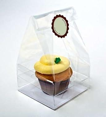 Amazon.com: Bolsas transparentes para cupcakes, bolsas de ...