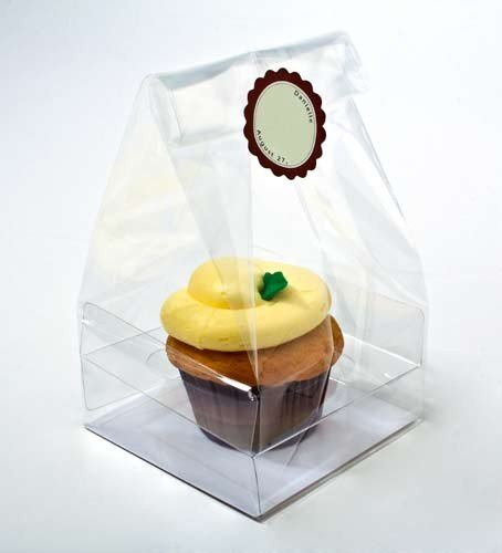 ClearBags 4 x 4 x 7 Clear Cupcake Bags | Cupcakes Bundt Cakes | Weddings, Parties, Bakery | Holds 1 Decorated Cupcake | FDA Approved CBG4 | 100 Bags