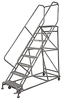 product image for Rolling Ladder Steel 172In. H. Gray
