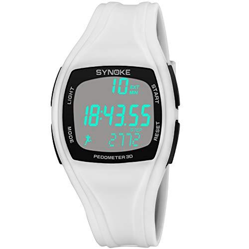 HOBULL Unisex Digital Chronograph Sport Watch Multifunction LED Watch Electronic Waterproof Alarm Step Counter Watch ()