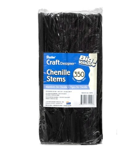 Black Chenille Stems Pipe Cleaners
