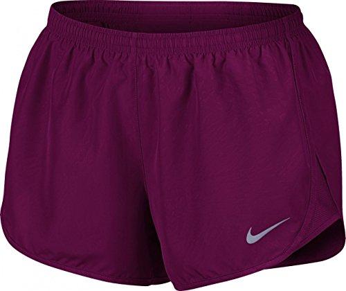 Nike Womens 3 Modern Embossed Printed Tempo Core Running Shorts (True Berry, XS)