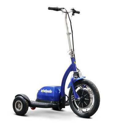 EW-18 Ewheels Stand and Ride Scooter Color: Blue by Electric Wheels LLC