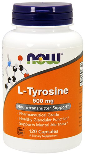 NOW L-tyrosine 500mg,120 Capsules