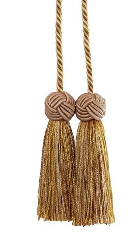 Double Tassel / Gold Multi / Tassel Tie with 3.5 inch Tassel