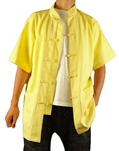 Leinen Hemd 108 Golden Chi Premium Maßgeschneidertes Handgefertigt Tai Goldenes aus xt1U8w0Bq