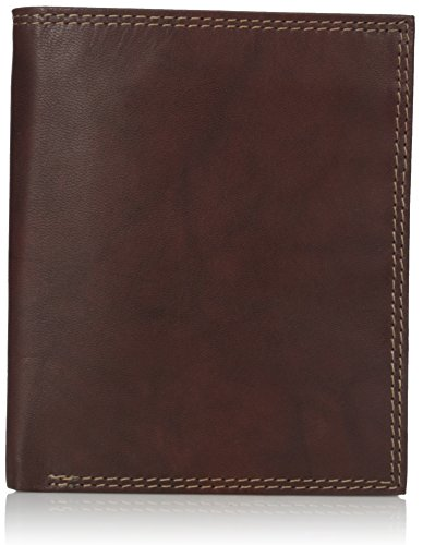 Buxton Men's Hunt Credit Card Folio, Brown, One Size