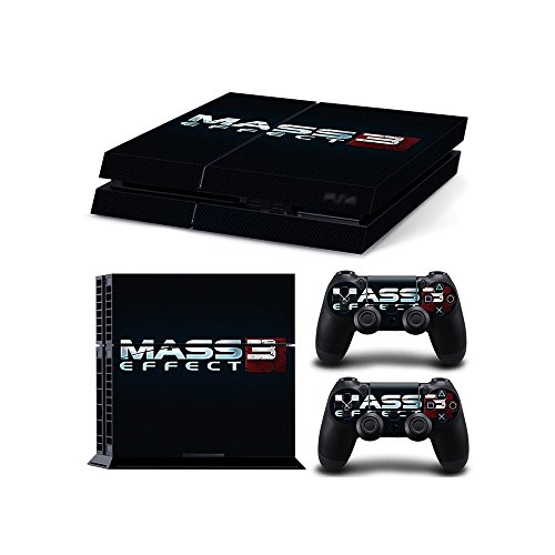 Sony PlayStation 4 Skin Decal Sticker Set - Mass Effect 3 (1 Console Sticker + 2 Controller Stickers) (Mass Controller Effect)