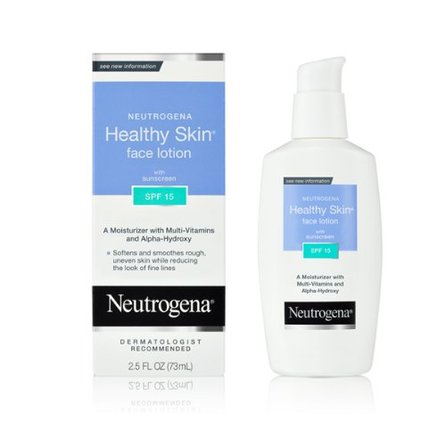 Allergy Spf 15 Sunscreen (Neutrogena Healthy Skin Face Lotion, SPF 15, 2.5 Ounce (Pack of)