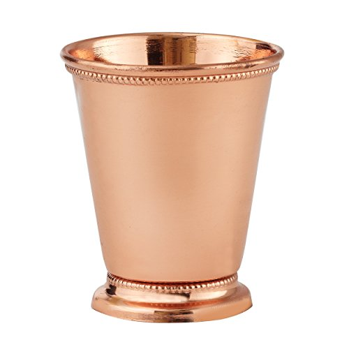 Elegance Copper Plated Mint Julep Cup, 3.5-Inch, Copper