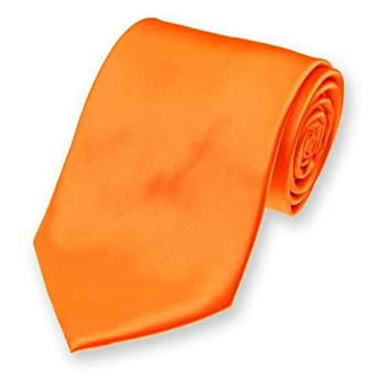 Orange Tie Necktie Unisex 3