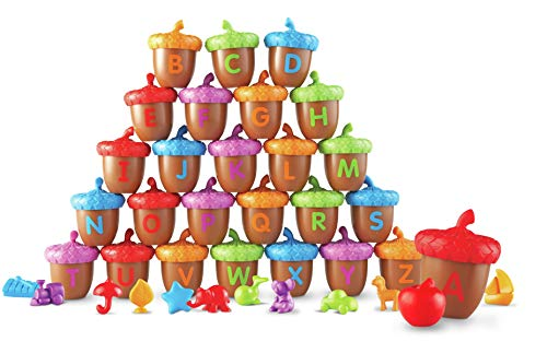 Abc Zoo Alphabet Puzzle - Learning Resources Alphabet Acorns Activity Set, 78 Pieces, Assorted Colors, Ages 3+