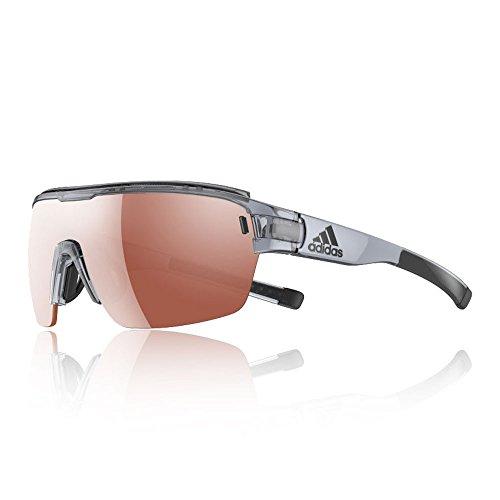 adidas Zonyk Aero Pro L Shield Sunglasses, Grey Shiny, 74 - Adidas Aero Zonyk