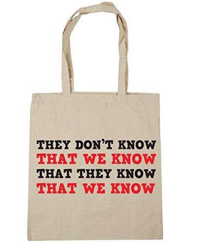 HippoWarehouse no se sabe que sabemos Tote Compras Bolsa de playa 42cm x38cm, 10litros Natural