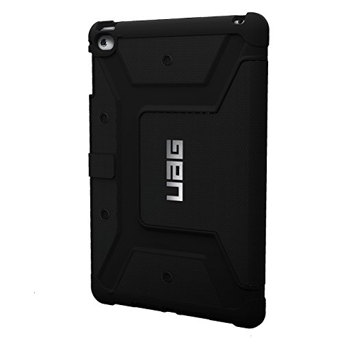 URBAN ARMOR GEAR Folio Schutzhülle für Apple iPad mini 4 (inkl. Retina) - schwarz [Stoßfest | Standfunktion | Wake/Sleep Funktion | Displayklappe] - UAG-IPDM4-BLK-VP
