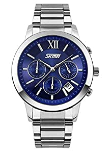 Mens Analog Wristwatches With Chronographr-blue