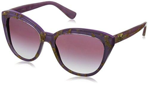 D&G Dolce & Gabbana Women's 0DG4250 Cateye Sunglasses, Leaf Gold On Violet, 56 - Gold Dolce And Sunglasses Gabbana Leaf