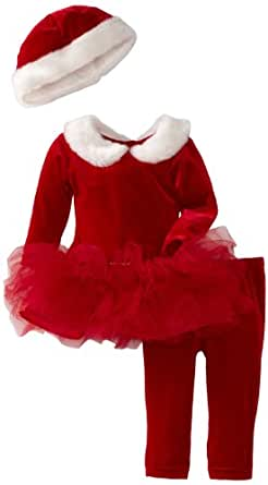 Blueberi Boulevard Baby Girls' Special Occasion Pant Set, Red, 24 Months