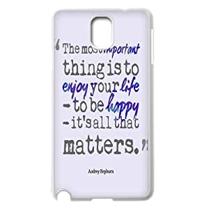 Audrey Hepburn Quote Customized Cover Case with Hard Shell Protection for Samsung Galaxy Note 3 N9000 Case lxa#904469