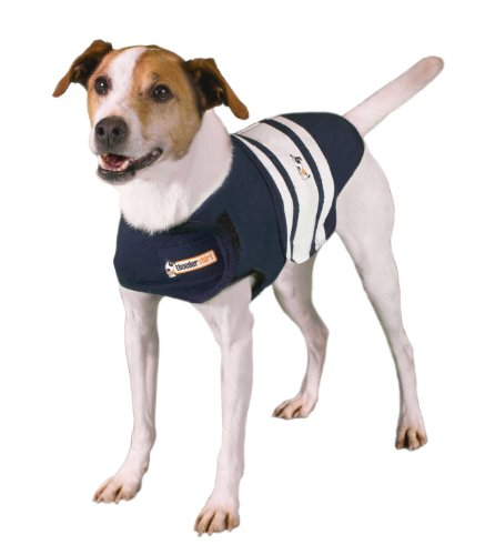 Thundershirt Dog Anxiety Treatment - Navy Blue Rugby (Small)