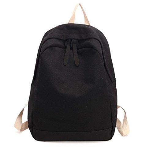 QIDI Mochila Impermeable Viaje Ocio De Moda Lienzo 36 * 27 * 13cm (Color : Gray) Black