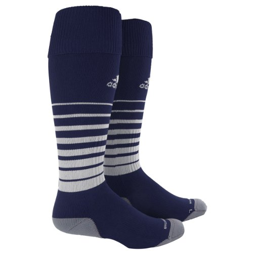 adidas Team Speed Soccer Sock, New Navy/White 3, Small
